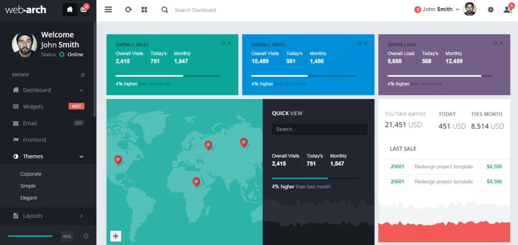 webarch admin dashboard bootstrap