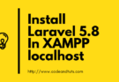 Install Laravel 5.8 In XAMPP localhost (1)