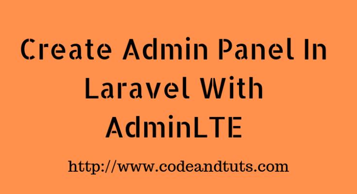 create-admin-panel-in-laravel