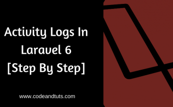 Activity logs in laravel